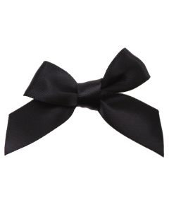 Black Ribbon Bows 15mm