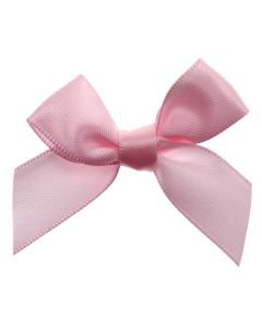 Pale Pink Ribbon Bows 15mm