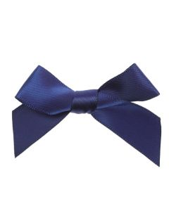 Navy Ribbon Bows 15mm