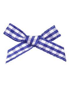Royal Gingham Ribbon Bows (7mm wide)