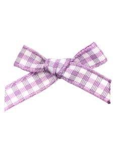 Lilac Gingham Ribbon Bows (7mm wide)