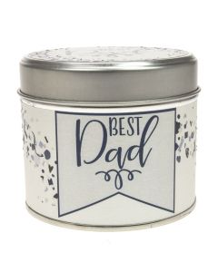 Best Dad Tin Candle