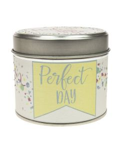 Perfect Day Tin Candle
