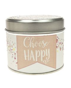 Choose Happy Tin Candle