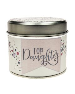 Top Daughter Tin Candle