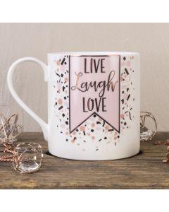 Live Laugh Love Bone China Mug