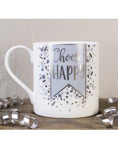 Choose Happy Bone China Mug