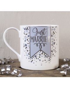 Just Married Bone China Mug