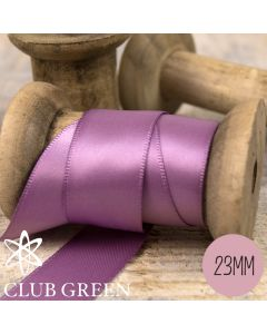Club Green 23mm Double Faced Satin Ribbon