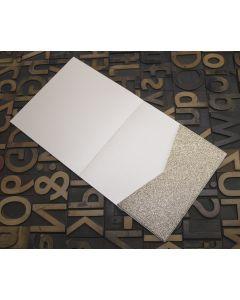 Enfolio Tentfold Large Square - Champagne Supernova Glitter Card