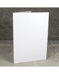 Creased Card A5 - Crystal White