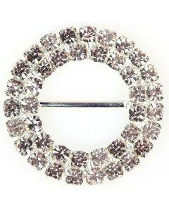 Duo Circle Diamante Buckle (Large)