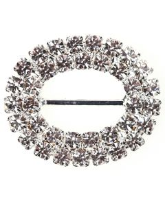 Duo Oval Diamante Buckle (Large)