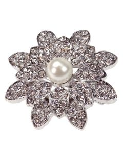 St Lucia - a diamante flower petal brooch