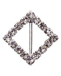 'Diamond Square' Diamante Buckle (Small)
