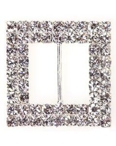 Duo Square Diamante Buckle (Large)