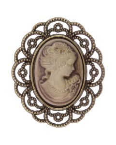 Antique Cameo (Sepia) Embellishment