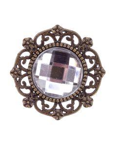Antique Gem Circle Embellishment