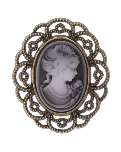 Antique Cameo (Jet) Embellishment