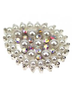 Laurasia Crystal AB Diamante and Pearl Embellishment