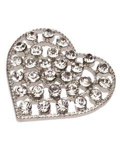 Bonita Crystal Heart Embellishment