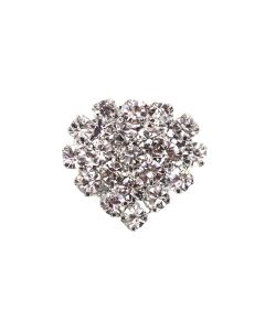 Itsy Heart - a small diamante heart embellishment for wedding stationery