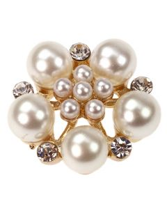 Gold Roseto Diamante and Pearl Embellisment