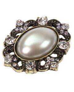 Cinnia Pearl Oval Diamante Embellishment
