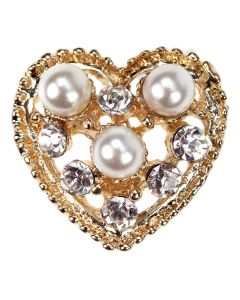 Gold Ammara Diamante and Pearl Embellishment