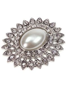 Silver Tesoro Diamante and Pearl Embellishment