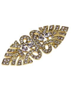 Gold Nouveau Diamante Art Deco Style Embellishment