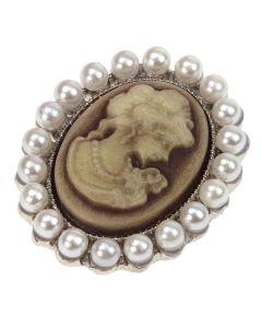Cameo Petit Pearl (Sepia)