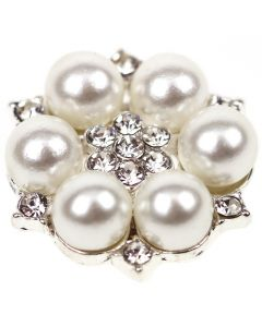 Baroque (Large) Diamantre and Pearl Embellishment