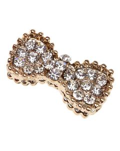 Gold Vivienne Bow Diamante Embellishment