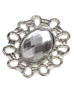 Silver Zabra Gem Embellishment