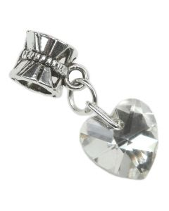 Crystal Heart Charm - Clear