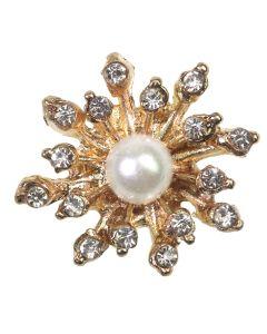 Poppet Pearl Gold Embellishment - Zoom