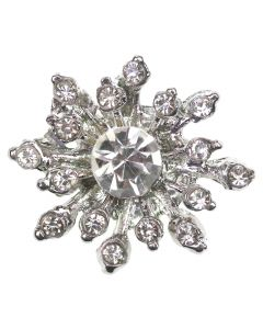 Poppet Gem Silver Diamante Embellishment - Zoom