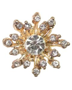 Poppet Gem Gold Diamante Gem Embellishment - Zoom