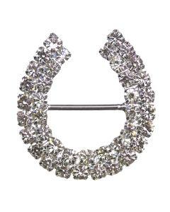Diamante Horseshoe Buckle (Large)