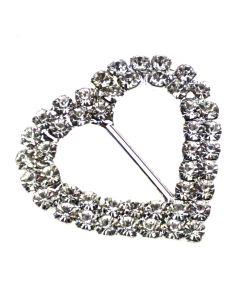 Duo Heart Diamante Buckle (Large)