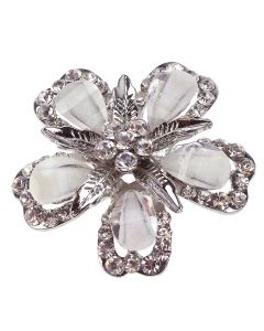 Bohemia Diamante Floral Brooch