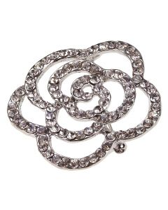 Bloomsbury Rose Diamante Brooch