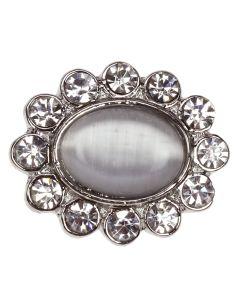 Corbiere - an oval diamante embellishment