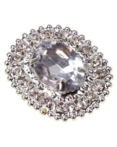 Florence (Embellishment) - an oval shaped gem and diamante embellishment