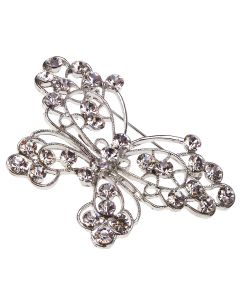 Filigree Butterfly Diamante Brooch