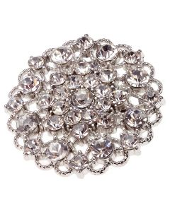 Marseille - a large diamante brooch