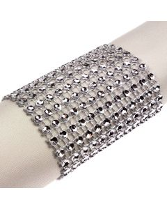 Wide Diamante Illusion Wrap - Silver