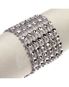Narrow Diamante Illusion Wrap - Silver