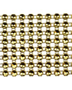 Medium Diamante Illusion Trim - Gold